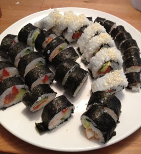 Et random billede af sushi som jeg kunne finde på min telefon.