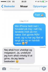 sms fra mor næse
